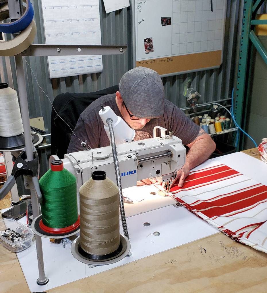 Edwin Flores, Upholsterer, Sewing
